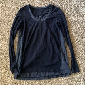 Black and Gray Lululemon Top